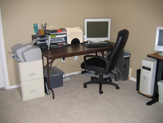 My desk setup in those days
